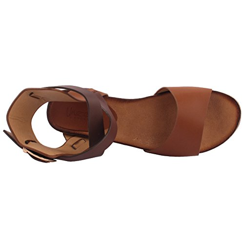 Unze Nouveau Femmes 'Hercules' Ancient Greek Wedge Sandales Summer Beach Travel School School Carnival Casual Shoes Royaume-Uni Taille 3-8 Chameau