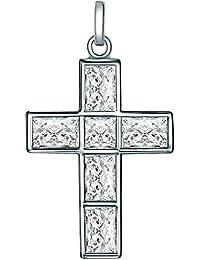 Rafaela Donata Damen-Anhänger (ohne Kette) 925 Silber rhodiniert Zirkonia transparent Baguetteschliff - 60837015