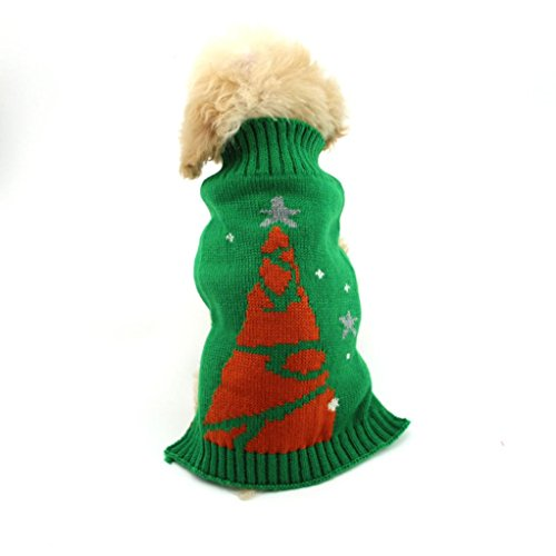 JACKY Pet Dog Christmas Tree Snowman Clothes Puppy Winter Sweater Costume Coat