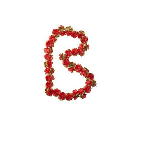 Basil Blumengirlande Flower Garland, Red, One Size, 50184