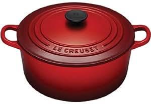 le creuset 25001220602461 cocotte tradition ronde 22 cm rouge cerise cuisine maison. Black Bedroom Furniture Sets. Home Design Ideas
