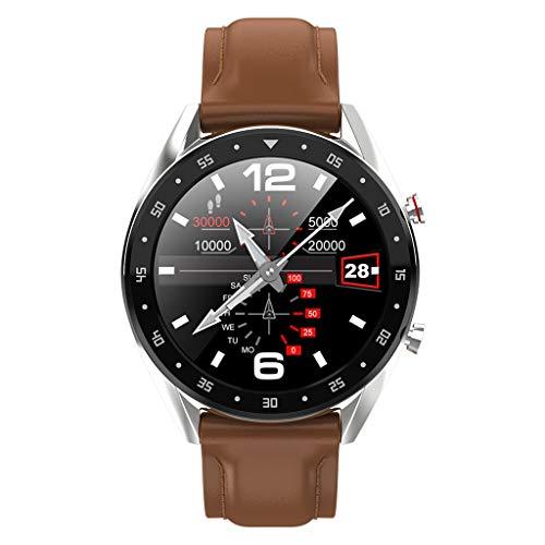 Musheng Smartwatch Damen Herren Watch - Aktivitätstracker elegant Fitnessarmband mit Herzfrequenz Fitness Uhr mit Schrittzähler Farbdisplay Blutdruck Pulsmesser Smart Watch (D)