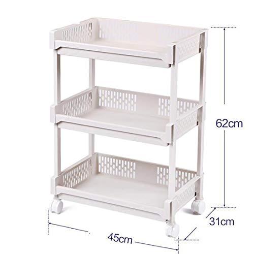 TBANG Küchenregal Balkon Schlafzimmer Lagerung Mehrschichtige Lagerung Kleinigkeiten Regal Metallboden (Design : 3, Size : L) -