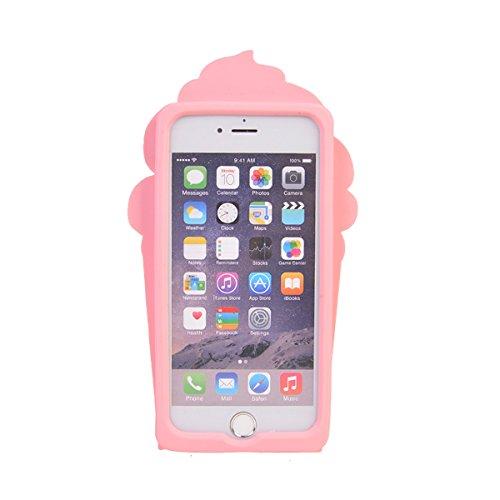 iPhone 6/ 6S (4.7 inches) Hülle,COOLKE 3D Fashion Klassische Karikatur weiche Silikon Shell Schutzhülle Hülle case cover für Apple iPhone 6/ 6S (4.7 inches) - 014 015