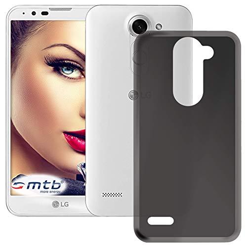 mtb more energy® Hülle Smokey für LG X mach | LG X Fast (K600, 5.5'') | schwarz-transparent | flexibel | TPU Schutzhülle Case Cover Tasche