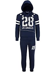 28 niños, diseño De Los Angeles-Chándal para niño, diseño De niña-Pantalón De deporte forro polar con capucha alto