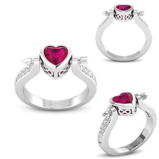 TAOtTAO Fashion Lady Zirconium Ring Cupid Arrow Heart Shaped Diamond Ring (6)