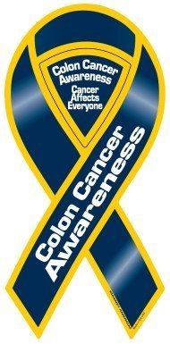 Colon Cancer Awareness Ribbon by Magnet