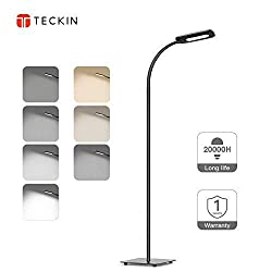Floor Lamp, LED Floor Light, TECKIN Reading Standing Lamp Dimmable for Living Room Bedroom, Long Lifespan High Lumens,Touch Control Floor Light, 3 Color Temperatures, 4 Level Brightness