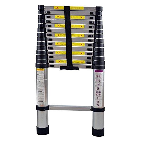 MCTECH Échelle télescopique en aluminium pliable 4,4 m - Capacité de charge de 150 kg (4,4m)