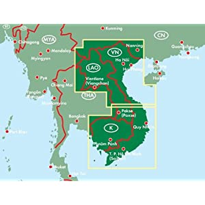 vietnam, Laos y Camboya mapa de carreteras. Escala 1:900.000. Freytag & Berndt. (Auto karte)