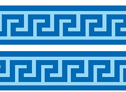 wandmotiv24 Bordüre Mäander 260cm Breite - Vlies Borte Tapetenbordüre Bordüren Borde Wandborde Griechenland Fluss Muster M0004 -