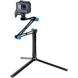Smatree X1S Bastone Selfie Monopiede Telescopico Allungabile Multifunzione con Robusto Treppiede per GoPro Hero 2018, Hero 6/5/4/3+/3/2/1/Fusion/Session, per Ricoh Theta S, 4K Action Fotocamere Sportive, Fotocamere Compatte e Smartphone