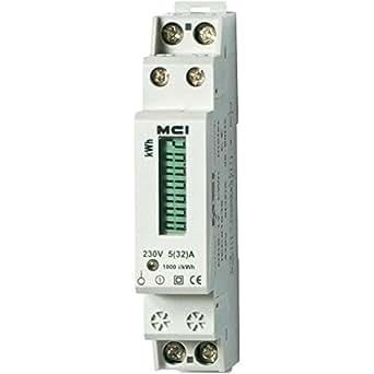 Mci - Compteur Electrique Monophasé, 32A/6 kWh, Branchement Direct Affichage Mécanique