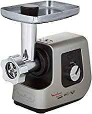 MOULINEX HV9 5Kg Meat Mincer and chopper with Multifunctional 3 Shredding Cubes Cones, 2300 Watts , Silver, S