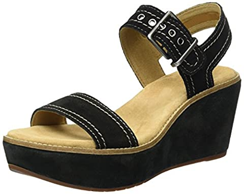 Clarks Aisley Orchid, Women's Ankle Strap Sandals, Black (Black Sde), 6 UK (39.5 EU)