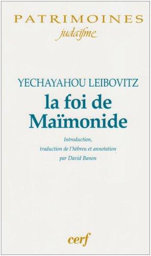 La foi de Maïmonide