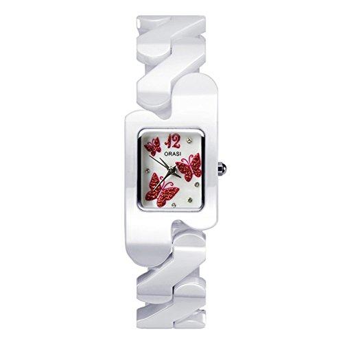 Le ragazze ceramic watch/ moda piazza orologio/Orologi al quarzo impermeabile-A