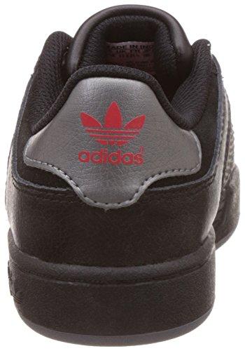 adidas , Jungen Sneaker 37 1/3 Schwarz / Silber / Rot