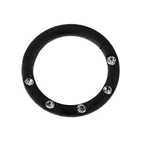 16 Gauge - 7MM Length Black Anodized Surgical Steel 5