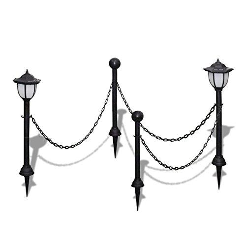 Kette Leuchte (vidaXL 2x LED Solarleuchte mit Kette Außenlampe Leuchte Lampe Gartenleuchte)