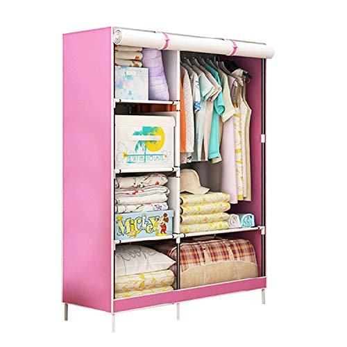 SOGREAT Kleiderschrank Stoffschrank Faltbar Reißverschluss Camping Steckschrank Garderobenschrank mit Kleiderstange Aufbewahrung für Schlafzimmer Ankleidezimmer