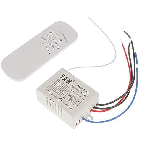Gazechimp Lumière RF Commande à Distance Commutateur de Receiver + Emitter sans Fil 220V 1/2/3/4 Voies Wireless - quatre voies