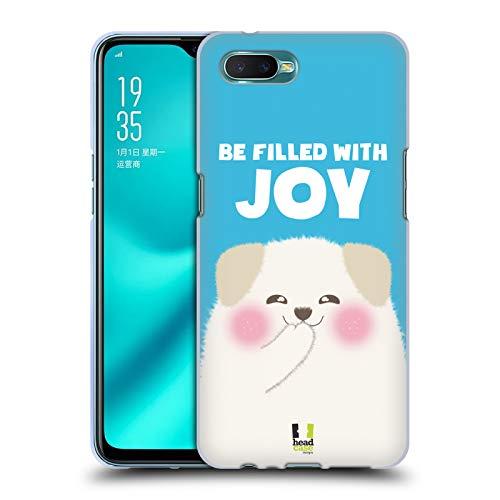 Head Case Designs Be Filled with Joy Glückliche Tiere Soft Gel Hülle für Oppo R15x