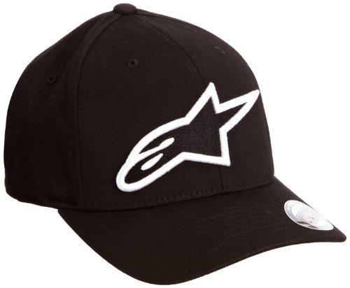 Alpinestars Herren Hut Logo Astar Curved Flexfit, Black/White, S/M, 1039-81003