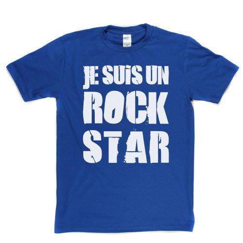 Je suis un Rock Star French Music Tee T-shirt Königsblau