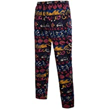 Trouser de Boho Briskorry Pantalón Sueltos de Estilo étnico Chándal para Hombres Cintura Alta Pantalones de