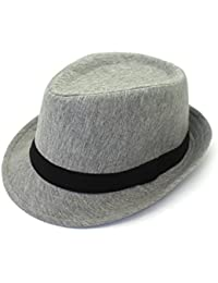 bba7e2f17fcac outfly Unisex Fedora Trilby Hat Top Hat 100% Cotton, M 22.1-22.8in