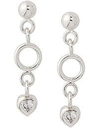 Boucles d'oreilles pendantes - Argent 925 - Oxyde de Zirconium - 1902028RH-BL