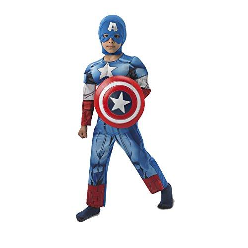 Rubie's - Disfraz Marvel The Avengers Capitán América para niños, talla S (I-610261S)