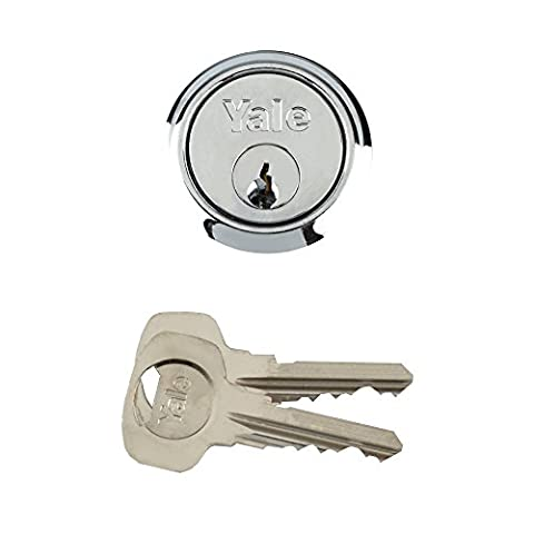 Yale Locks P1109 Replacement Rim Cylinder 6 Keys Polished Chrome