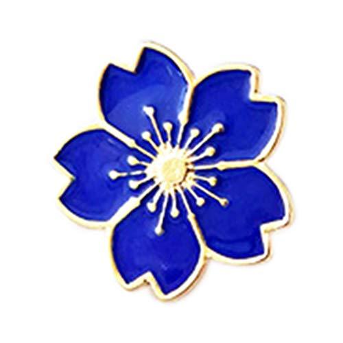 BoburyL Frauen-Mädchen-Mini Kirsch-Blumen-Brosche-Mantel-Kleid-Brust-Pin Tragbare Kleidung Uniform Anzüge Abzeichen -