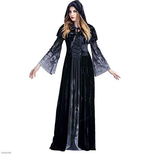 Kostüm Vampir Adult Viktorianischen - CS-LJ Halloween-Kostüm, Adult Role Playing Vampire Langer Rock Damenbekleidung Hexenkostüm Horrorkleid (Size : XL)