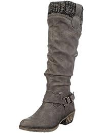 Rieker 93756 Damen Langschaft Cowboy Stiefel