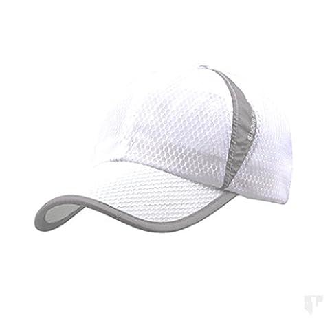 PENGGE Men and Women Summer Outdoor Sport Baseball Hat Running Visor Sun Cap (White)