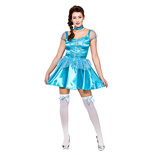 Ice Blue Princess (short) Ladies Fancy Dress Costume Halloween