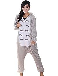 MissFox Kigurumi Pyjama Erwachsene Anime Cosplay Halloween Kostüm Sleepsuit Cosplay Fleece-Overall Kleidung