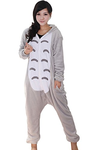 Tier Totoro Onesie Pyjama Pajama Kostum Schlafanzug Jumpsuit Erwachsene Unisex,L