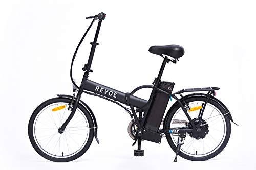 REVOE Fly, Bicicletta Elettrica Pieghevole 20\' Misto Adulto, Nero