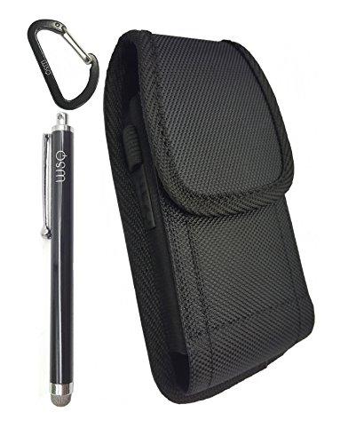 WSQ Nylon iPhone X Hülle, Robuste Heavy Duty Vertikal Gürtel Tasche mit langlebigem Metall Clip Holster Tasche Ärmel, der Halter für Apple iPhone X (Passt mit Anderen Schutzhülle auf:) - Apple Iphone Horizontal Pouch