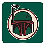 Original Star Wars Boba Fett Helm Single Untersetzer Getränkematte Retro Fighter Badge