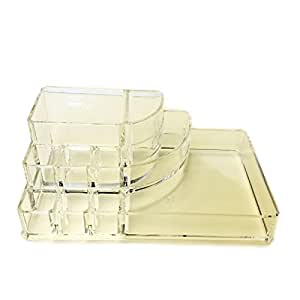 JfM Acrylic Clear Make Up Holder Cosmetic Display Storage Organiser by JustForMoo
