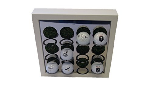 Golfball-Vitrine für 9 Golfbälle + 3 Weiß - Golf-ball Vitrine