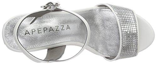 Apepazza Fancy Gaucho, Sandales à Plateforme Femme Blanc - Weiß (BIANCO)