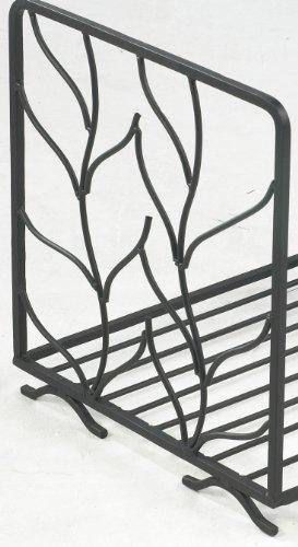 Wrought Iron Log Basket with Leaf Design FG1070