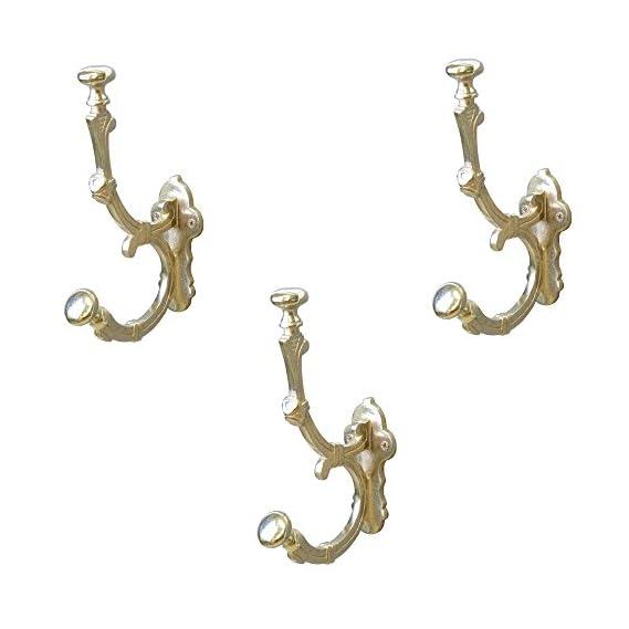 Casa Decor Set of 3 Wall Hooks Hanging Clothes Hat Coat Robe Hangers Metal Single Hook Door Hook Wall Mounted Single Hook Hanger Silver Nickel Finish